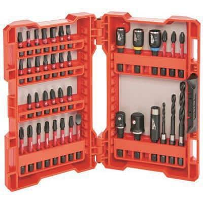 SHOCKWAVE Impact Duty Drill and Alloy Steel Screw Driver Bit Set (40-Piece)