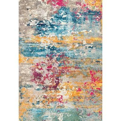 Monet Modern Multi 8 ft. x 11 ft.  Area Rug