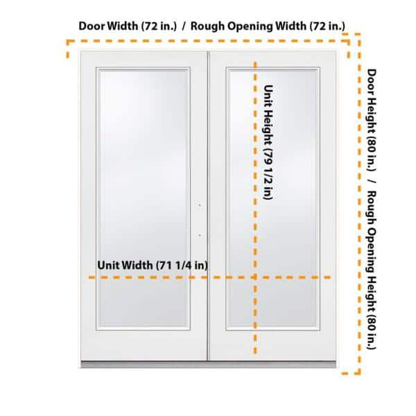 Jeld Wen 72 In X 80 In Primed Fiberglass Left Hand Outswing Full Lite Glass Active Stationary Patio Door 72lhosfg1l The Home Depot
