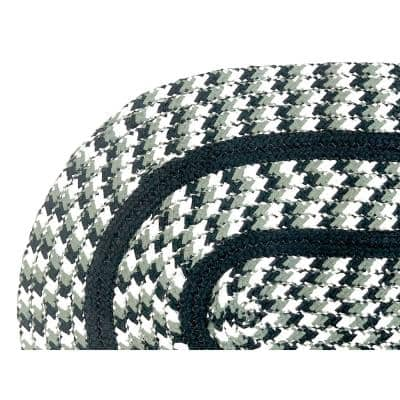 Crecent Braid Collection is Durable and Stain Resistant Reversible Green 5 ft. x 8 ft. Oval Polypropylene Area Rug