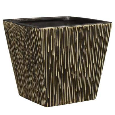 6 in. Brown Ceramic Tagula Planter
