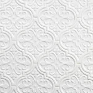 Vintage Florid Lantern White 6-1/4 in. x 7-1/4 in. Ceramic Wall Tile (30-Pieces 4.8 sq. ft. / Box)