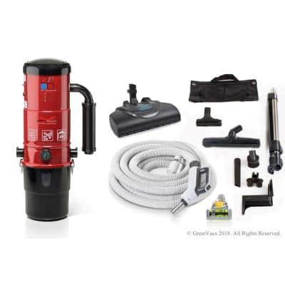 Central Vacuum Unit with Premium Electric Hose Kit and 25 Year Warranty