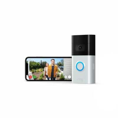 Wireless and Wired Video Doorbell 3 Smart Home Camera with Echo Show 5- Charcoal