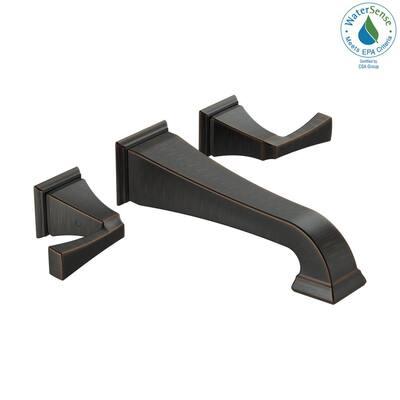 Dryden 2-Handle Wall Mount Bathroom Faucet Trim Kit in Venetian Bronze [Valve Not Included]