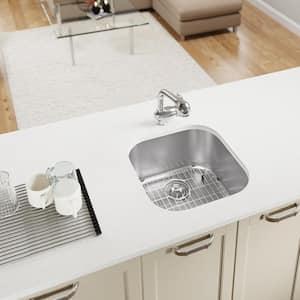 Undermount Stainless Steel 20 in. Single Bowl Kitchen Sink Kit
