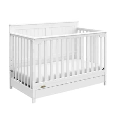 Hadley 4-in-1 Convertible Crib with Drawer-White