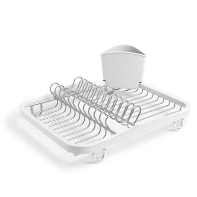 Sinkin White/Nickel Dish Rack