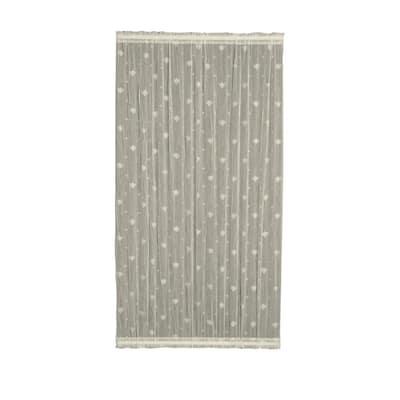 Ecru Distressed Rod Pocket Room Darkening Door Curtain - 45 in. W x 63 in. L