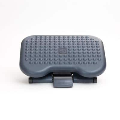 2 Pack Black Plastic Adjustable Height Ergonomic Foot Rest