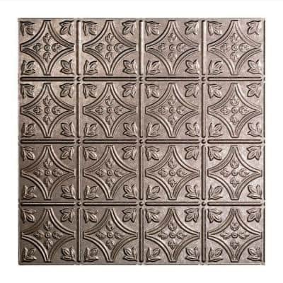 Traditional #1 2 ft. x 2 ft. Galvanized Steel Lay-In Vinyl Ceiling Tile ( 20 sq.ft. )