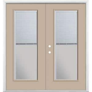 72 in. x 80 in. Canyon View Steel Prehung Right-Hand Inswing Mini Blind Patio Door in Vinyl Frame with Brickmold