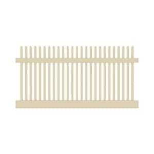 Yukon Straight 4 ft. H x 8 ft. W Sand Vinyl Un-Assembled Fence Panel