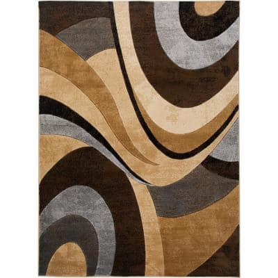 Gray Brown Area Rugs Rugs The Home Depot