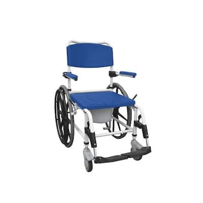 Aluminum Shower Commode Mobile Wheelchair
