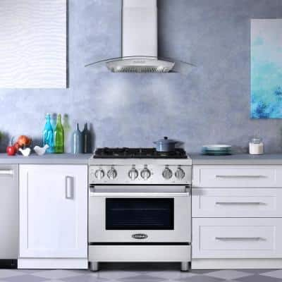 Commercial-Style 30 in. 3.9 cu. ft. Dual Fuel Range with 4 Italian Burners Cast Iron Grates and 5 Function Electric Oven