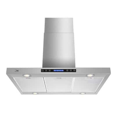 30 in. 480 CFM Convertible Wall Mount Range Hood in Stainless Steel with Mesh Filter, Touch Control, LED Lights