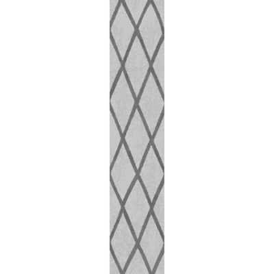 Valencia Gray Shag 2 ft. x 7 ft. Trellis Shag Runner Rug