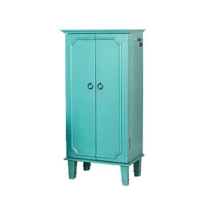 Cabby Turquoise Jewelry Armoire 40 in. x 19 in. x 13.75 in.