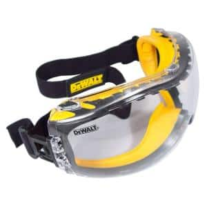 Safety Goggles Concealer with Clear Anti-Fog Lens