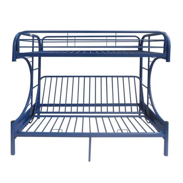 Acme Furniture Eclipse Navy Twin Over Full Metal Bunk Bed 02091w Nv The Home Depot