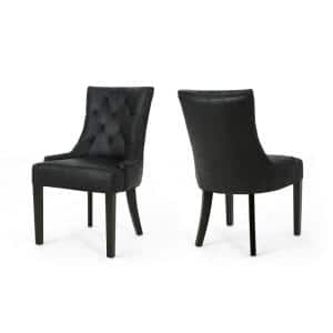 Hayden Black Upholstered Dining Chairs (Set of 2)