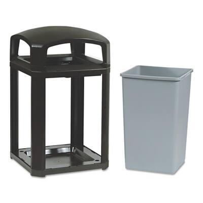 Landmark Series 35 Gal. Domed Frame Trash Can with Rigid Liner