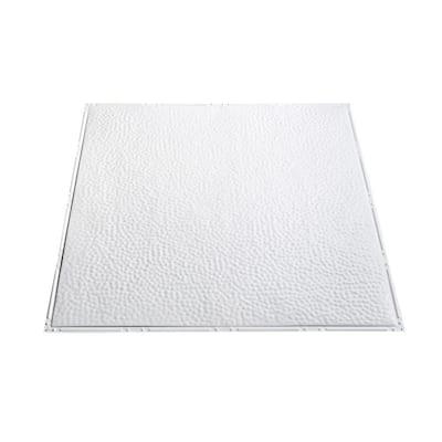 Chicago 2 ft. x 2 ft. Nail-Up Tin Ceiling Tile 20 sq. ft. in Matte White (20 sq. ft./case)