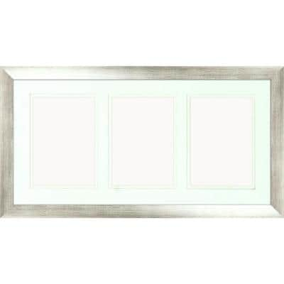 3-Opening Holds (3) 5 in. x 7 in. Matted Silver Photo Collage Frame (Set of 2)