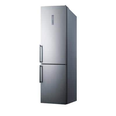 24 in. W 12.5 cu. ft. Bottom Freezer Refrigerator in Stainless Steel, Counter Depth