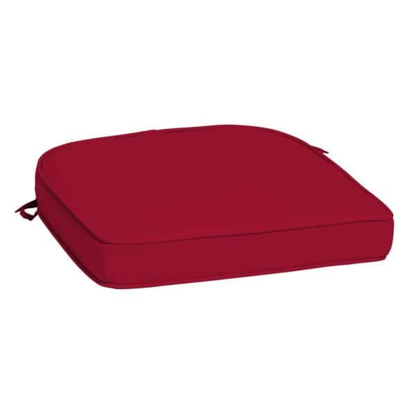 Arden Selections Profoam Caliente Acrylic Rounded Rectangle Outdoor Chair Cushion Ah0xf01b Dkz1 The Home Depot