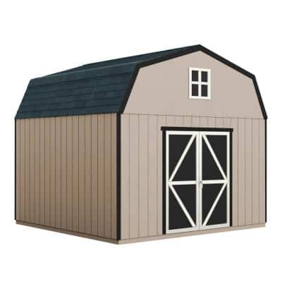 Do-it Yourself Hudson 12 ft. x 16 ft. Wooden Storage Shed for Existing Cement Pad