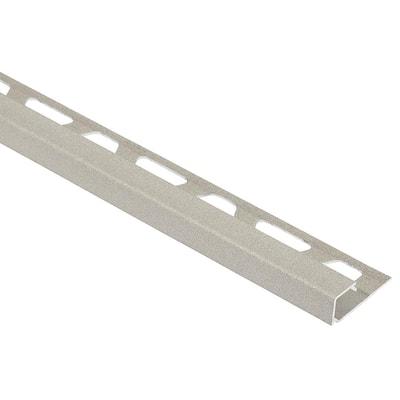Quadec Cream Textured Color-Coated Aluminum 7/16 in. x 8 ft. 2-1/2 in. Metal Square Edge Tile Edging Trim