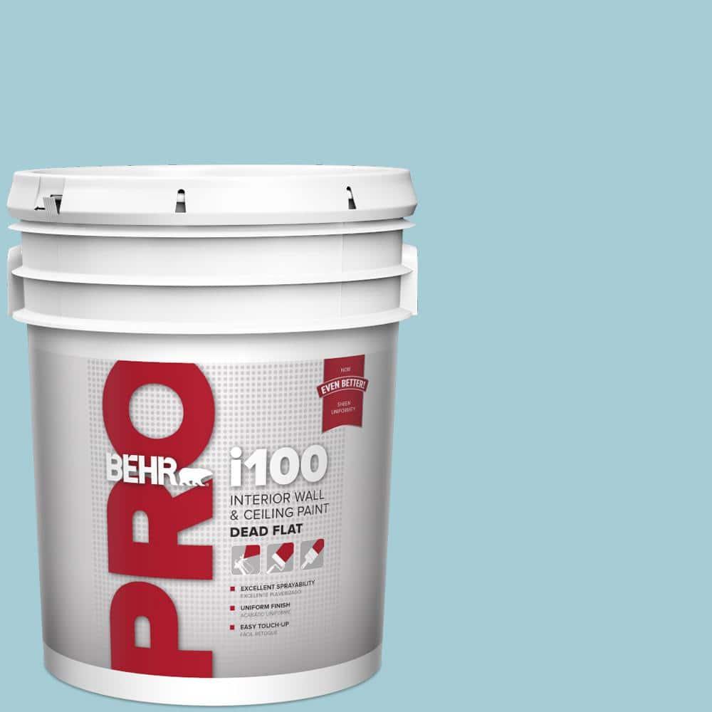 Behr Pro 5 Gal S460 2 Drip Dead Flat Interior Paint Pr10505 The Home Depot