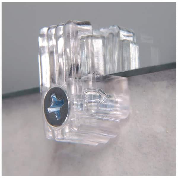 Plastic Mirror Clip 8 Pack 534271, Clear Plastic Mirror Clips