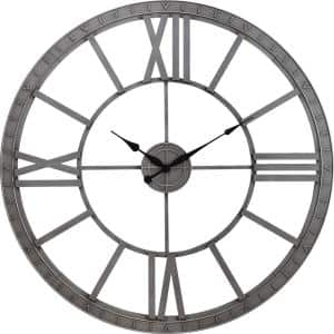 Silver Big Time Clock