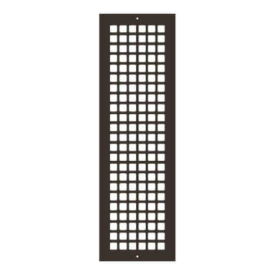 Square Series 24 in. x 6 in. Steel Grille, Oil Rubbed Bronze with Mounting Holes