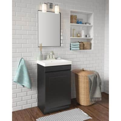 Indale 20 in. W x 16 in. D Vanity in Coffee Bean with Porcelain Vanity Top in Solid White with White Basin