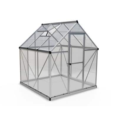 Harmony 6 ft. x 6 ft. Polycarbonate Greenhouse in Silver