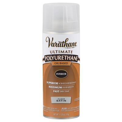 11 oz. Clear Satin Oil-Based Interior Polyurethane Spray