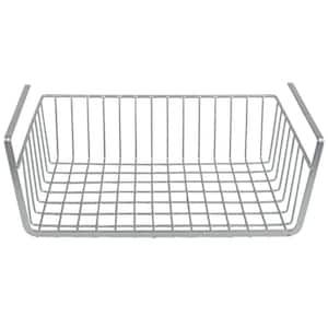 Large Silver Under Shelf Vinyl Coated Steel Basket