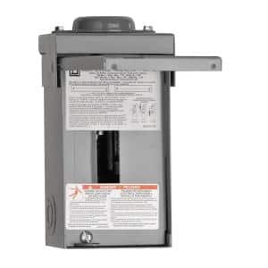 Homeline 70 Amp 2-Space 4-Circuit Outdoor Main Lug Load Center