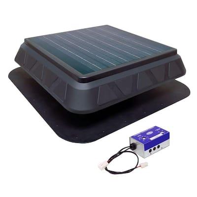 25-Watt Low Profile Solar Powered Roof Mount Exhaust Fan
