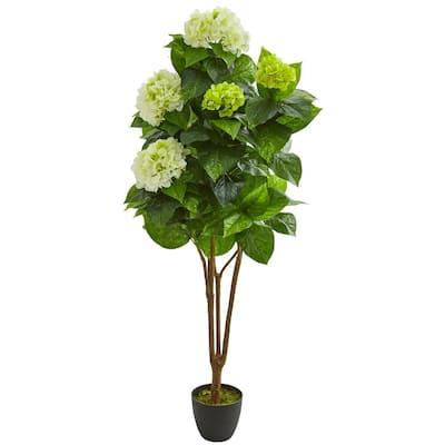 Indoor 5 in. Hydrangea Artificial Plant