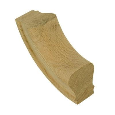 7014 Unfinished Red Oak Up-Easing Stair Handrail Fitting