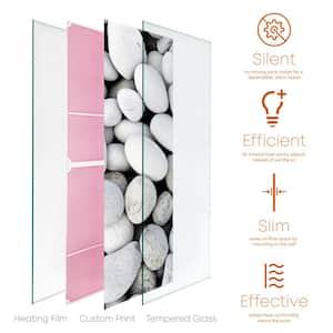 Glass Heater 750-Watt Radiant Wall Hanging Decorative Glass Heat Panel - Galets
