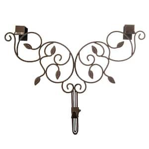 Brown Metal 12 in. - 19 in. Adjustable Wreath Hanger (Ivy Design)