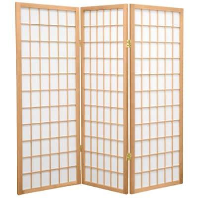 4 ft. Natural 3-Panel Room Divider