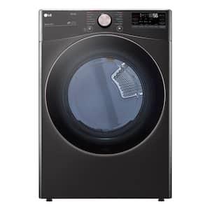 7.4 cu. ft. Black Steel Ultra Large Capacity Gas Dryer with Sensor Dry TurboSteam