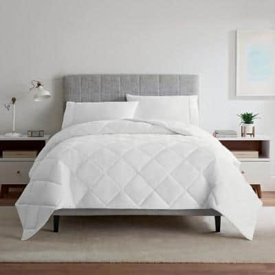 Air Dry Down Alternative Lightweight Twin Polyester Comforter in White